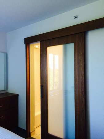 SpringHill Suites by Marriott Bellingham: Sliding door to bathroom