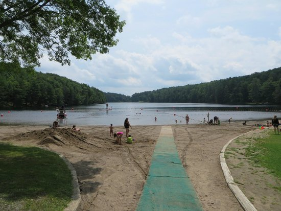 Laurens, NY: Beach at Gilbert Lake