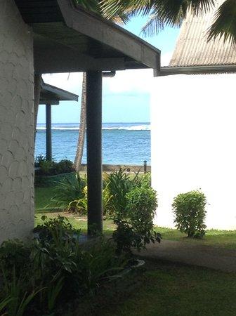 Fiji Hideaway Resort & Spa: View from the front verandah of Bure 90