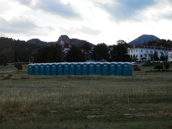 32 Pots all in a row - View of the Picturesque Stanley Hotel !