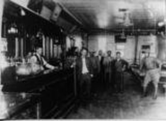 Red Garter Inn: Inside nearby Sulatana Bar, about 1920