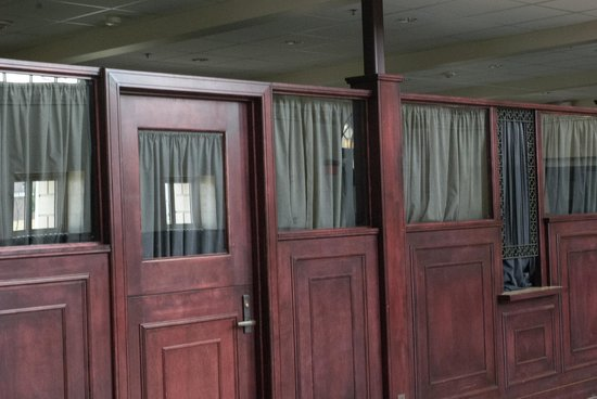 The Great Overland Station: reproduction of the actual ticket windows