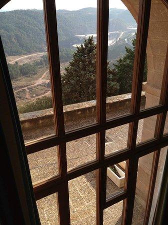 Parador de Cardona: Vistas desde el ventanal de la habitacion
