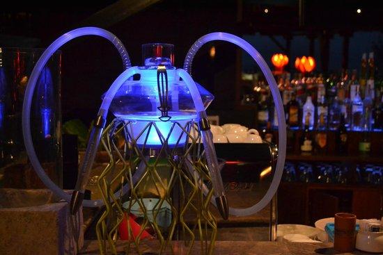 Sheraton Senggigi Beach Resort: shisha pipes at the bar