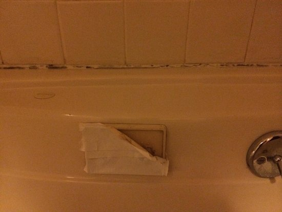 Budget Inn & Suites: My jacuzzi...more mold and duct tape ....