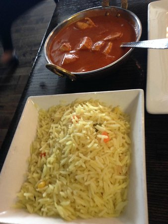 Butter Chicken and Rice...so delicious! Clay Oven  |  240-1600 Kenaston Boulevard, Winnipeg, Man
