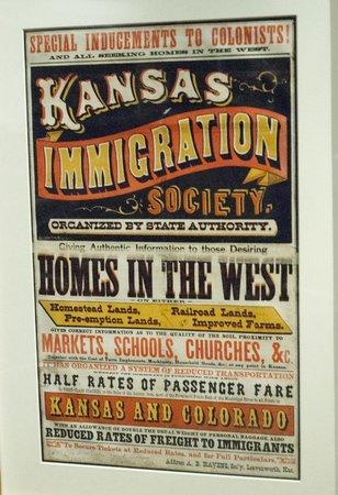Kansas Museum of History: Poster luring immigrants to Kansas