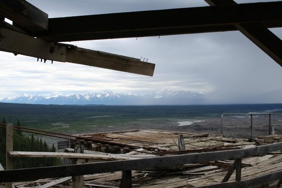 St. Elias Alpine Guides Day Adventures: View from the top of Kennecott mine