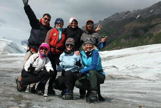 St. Elias Alpine Guides Day Adventures : Very happy group of ice climbers