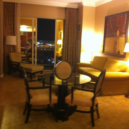 Signature at MGM Grand: Doors in the living area open to balcony, lovely views