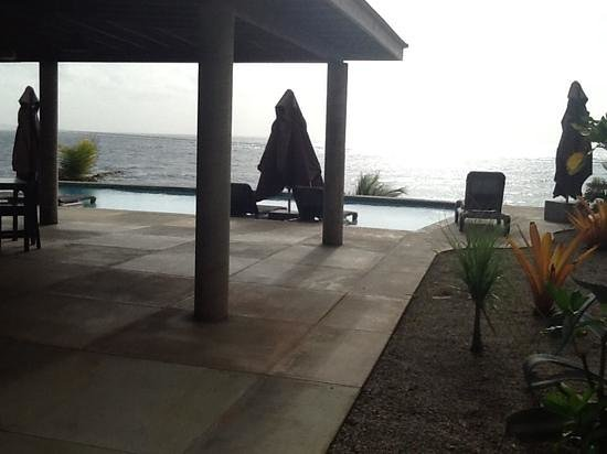 Pagua Bay House Oceanfront Cabanas : view by the pool