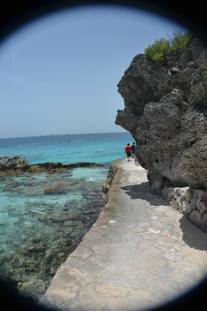 Punta Sur: Scenic trail on the west side of the point.