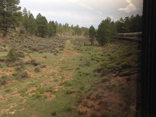 Grand Canyon Railway: View from Train