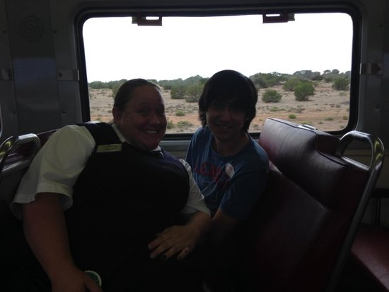 Grand Canyon Railway: My son with Amber Rose