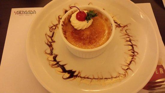 Armada Hotel Manila: creme brulee -main floor restaurant