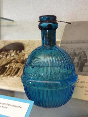 Delta County Historical Museum : Exhibit - listed as fire extinguisher, lovely bottle for sure