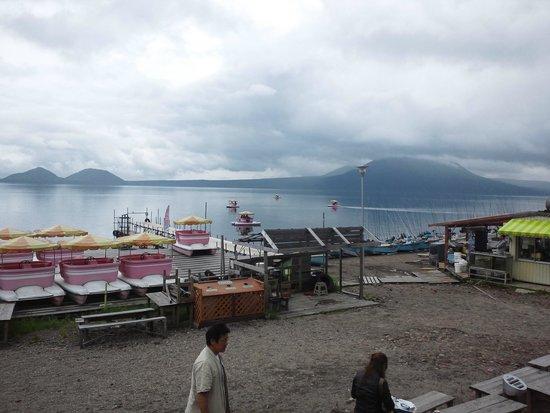 Lake Shikotsu: ボート乗り場1