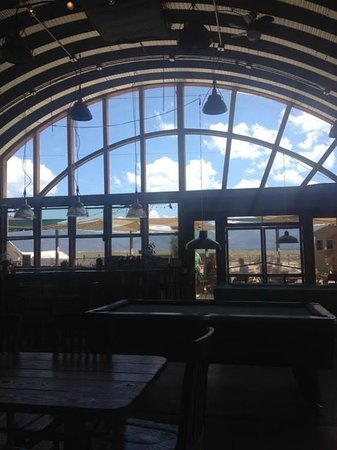 Taos Mesa Brewing: View from inside