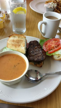 The Hungry 7: The tenderloin burger with tomato chicken soup
