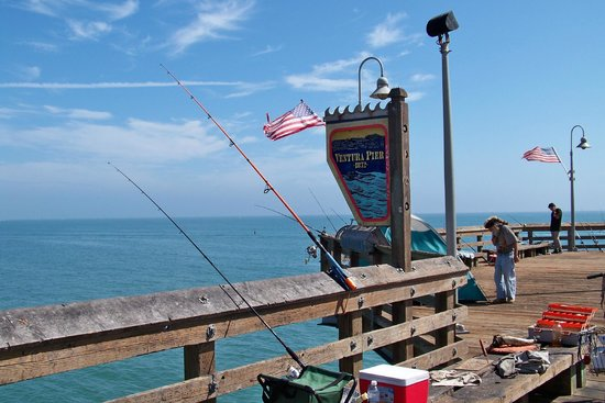 lots of fishing picture of ventura pier and promenade