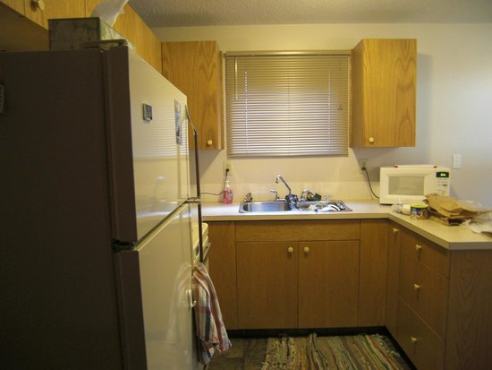 Yoho Guesthouse: Wel-equipped kitchen.