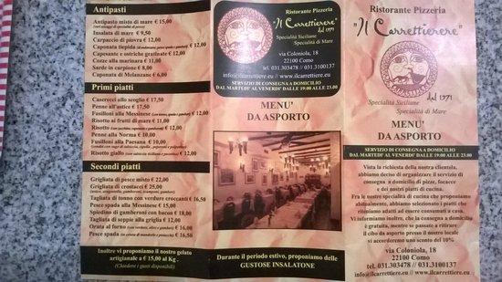Il Carrettiere: ....asporto e domicilio sono solo una parte del menù principale...