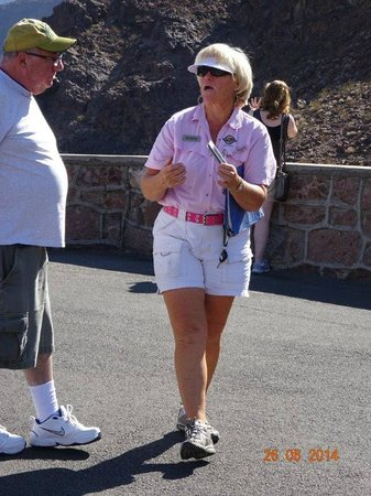 Pink Jeep Tours Las Vegas: Our lovely driver and tour guide, Debbie