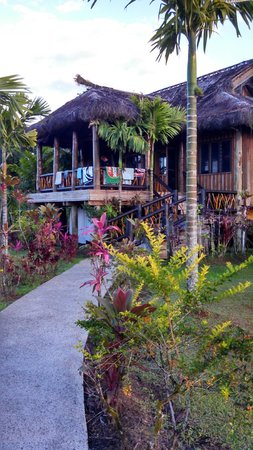 Uprising Beach Resort: Front of 20 bed dormitory