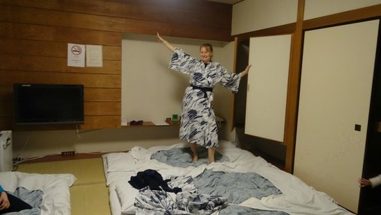 Hotel Naniwa: They have Kimonos in the rooms for you to use.