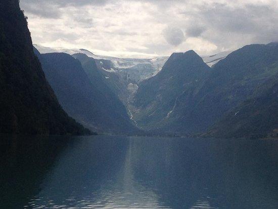 Stryn, النرويج: Glacier in the distance