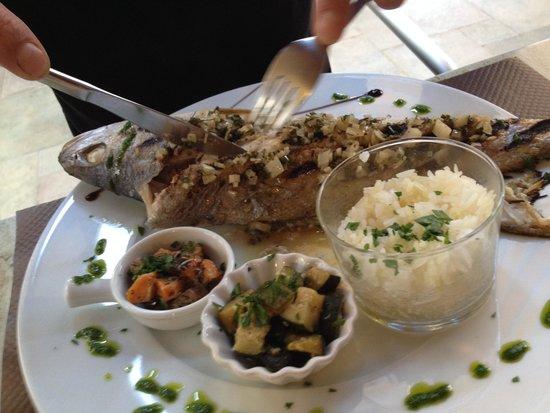 Maigre grill picture of l 39 huitre y est port des barques tripadvisor - Restaurant l huitre y est port des barques ...