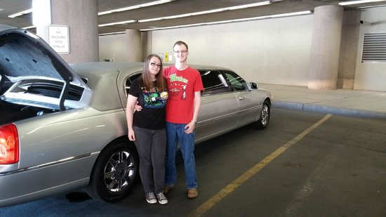 Presidential Limousine : The two of us in front of the limo
