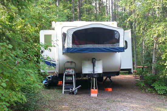 Glacier Campground: campsite
