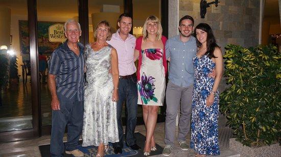 Best Western Hotel La Solara Sorrento: Ruby Anniversary family photo