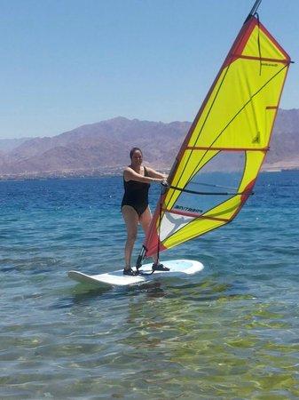 U Coral Beach Club Eilat : At a  wind-surfing lesson.