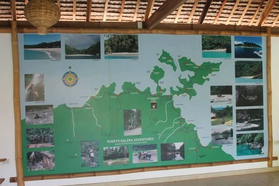 Fishermen's Cove : activity board at the entrance