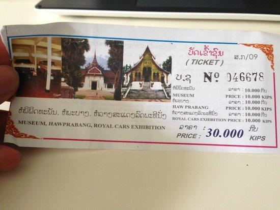 Royal Palace Museum: ticket