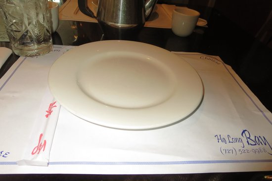 Halong Bay: Waiting for our waiter.