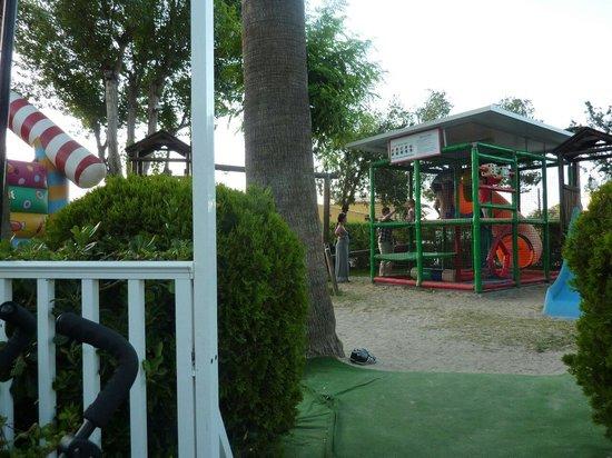 Seaclub Mediterranean Resort: Play area at tivolis restaurant opposite bell vue