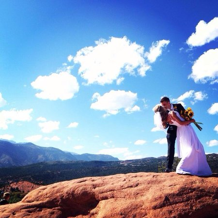 Garden of the Gods: Just married!