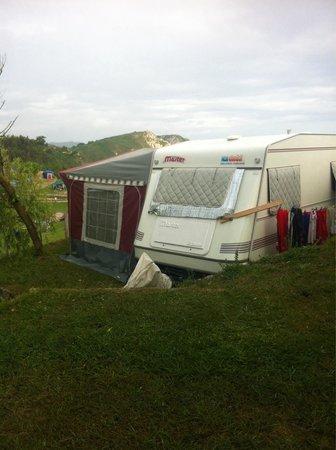 Camping La Paz: Vistas desde la parcela 2