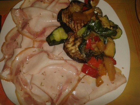 Cinque 50: Porchetta leggera e verdure grigliate