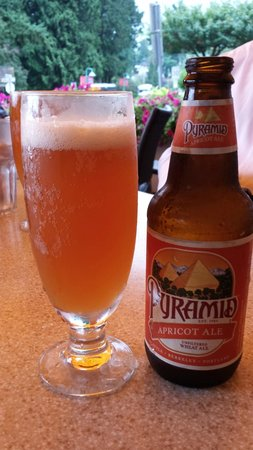 Arms Reach Bistro: Apricot wheat ale for lunch