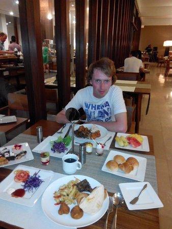 Pandanus Beach Resort & Spa : Наш ужин