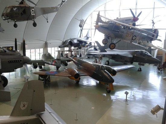The Royal Air Force Museum London: Main hall pictured from Balcony