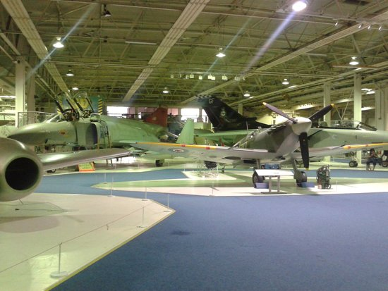 The Royal Air Force Museum London: Second hall many exhibits