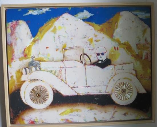 Paco Jimenez : Schilderij van José Antonio Diazdel... in gang op weg naar de wc