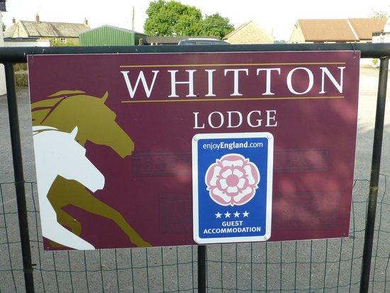 Whitton Lodge: Sign post