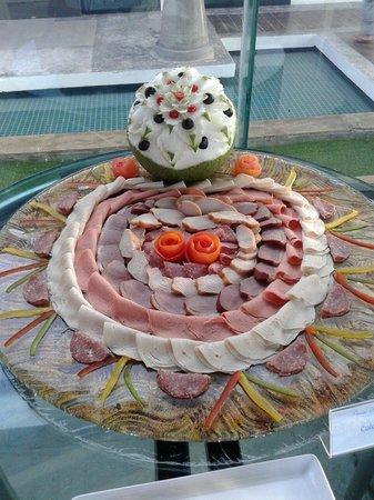 Samui Resotel Beach Resort: Decorazione colazione