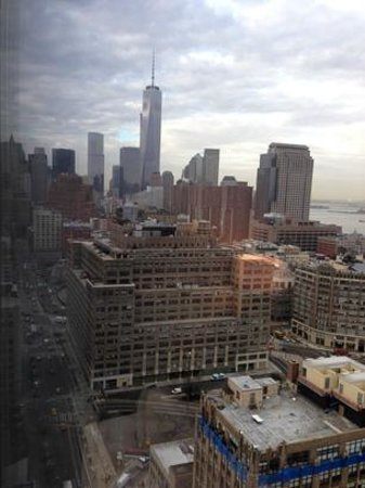 Trump SoHo New York: view to new WTC2